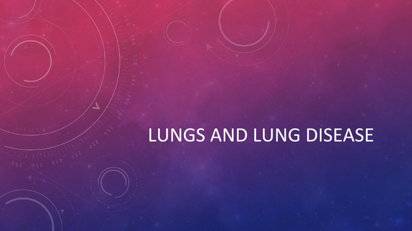 Preview of AQA AS BIOLOGY UNIT 1: Lungs and Lung Disease