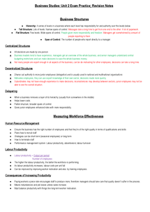 Preview of AQA AS Business Studies Revision Notes - Unit 2 (BUSS2)