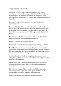 Preview of AQA AS Economics Unit 1 Keywords