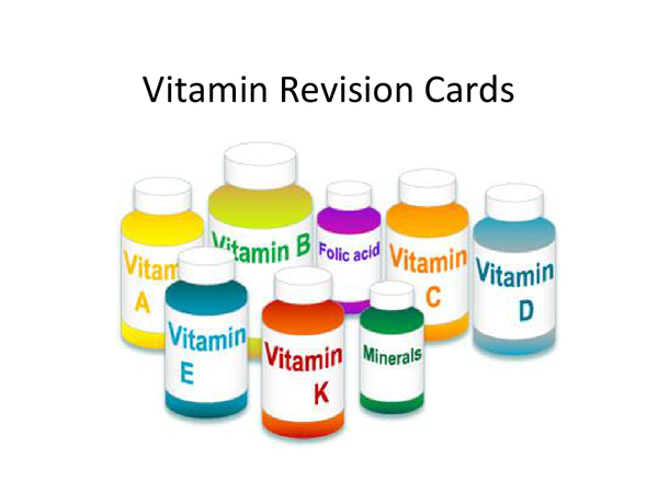 Preview of AQA AS Food Vitamins Revision Cards