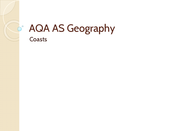 Preview of AQA as Geography - Coasts