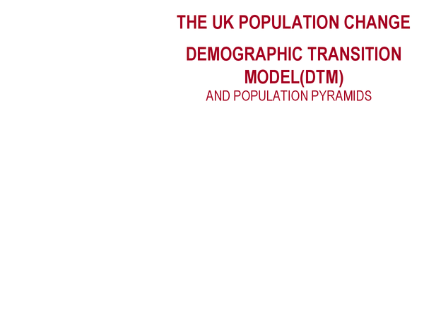 Preview of AQA AS Geography Case Study: UK Population change.
