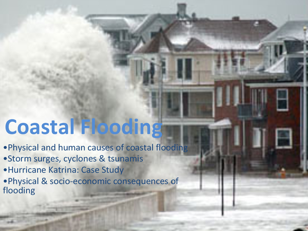 Preview of AQA AS Geography Coastal Flooding