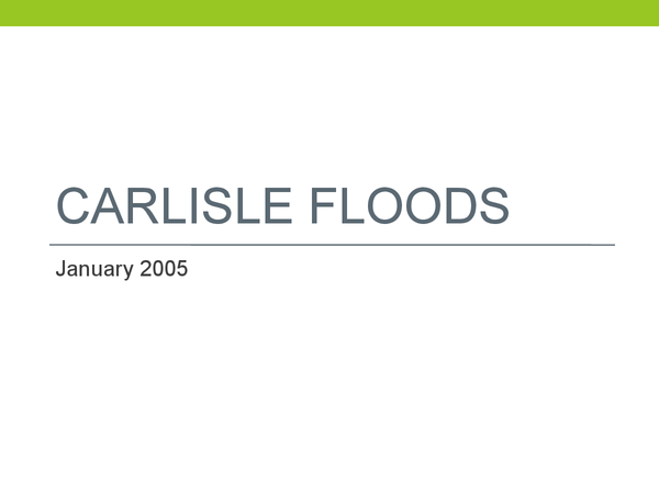 Preview of AQA AS Geography Rivers: Carlisle Floods