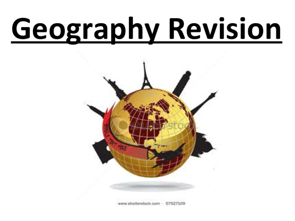 Preview of AQA AS Level Geography - Notes for June Exam.