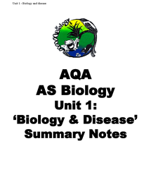 Preview of AQA AS  BIOLOGY UNIT 1