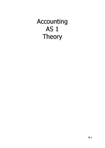 Preview of AQA AS Accounting Unit 1