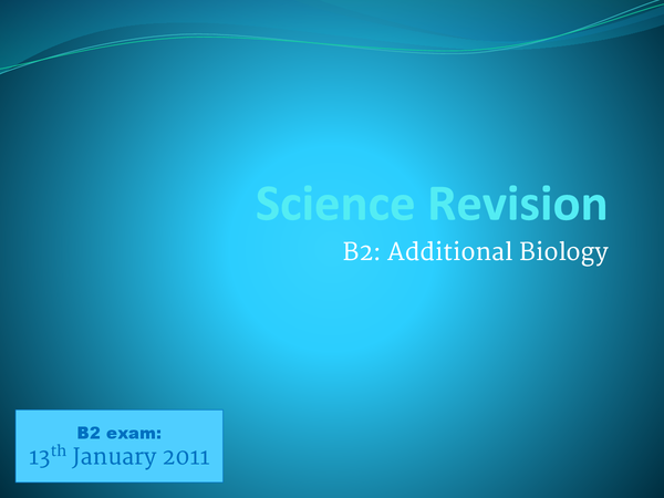 Preview of AQA B2 (Additional Biology) Revision Pack