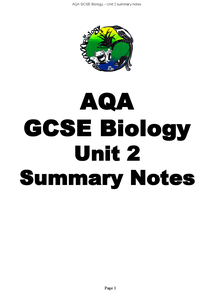 Preview of AQA B2 biology