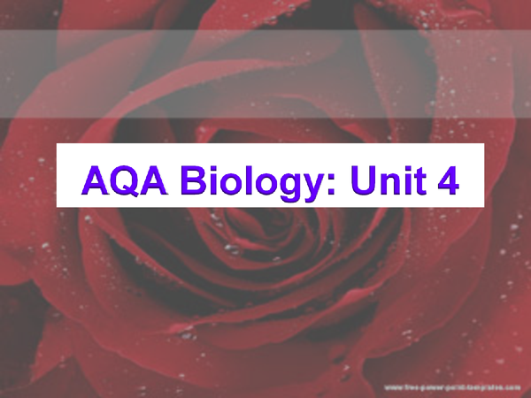 Preview of Aqa biology module 4