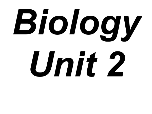 Preview of AQA Biology Unit 2