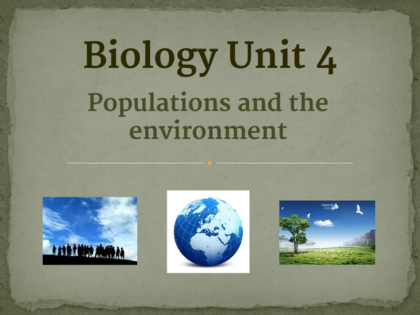 Preview of AQA Biology unit 4
