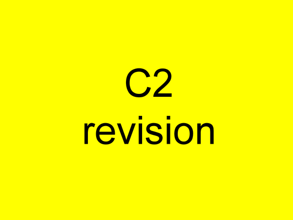 Preview of AQA C2 Powerpoint GCSE