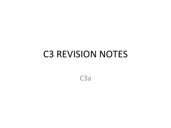 Preview of AQA C3 Revision Notes Full