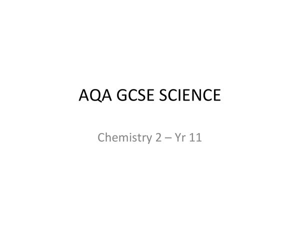 Preview of AQA Chemistry 2 (Additional Science)