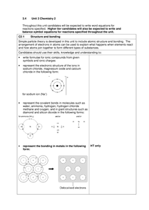 Preview of AQA Chemistry 2 specification