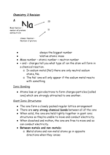 Preview of AQA Chemistry Module C2 Revision booklet