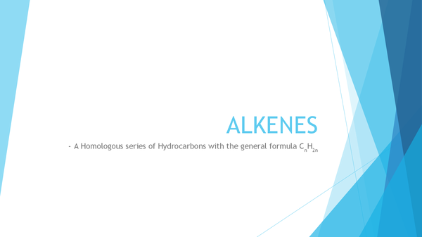 Preview of AQA Chemistry Unit 2: ALKENES