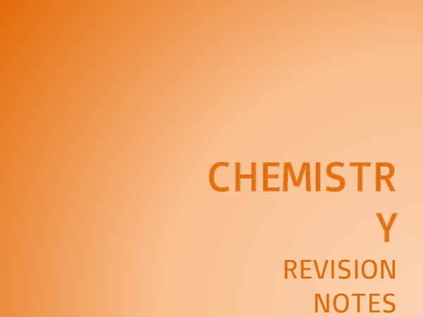 Preview of AQA Chemistry Unit 3: Revision Notes