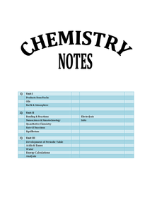 Preview of AQA Chemistry Units 1-3 Revision Guide/Notes