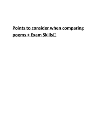 Preview of AQA Ebglish Literature: Poetry-Relationships: comparison notes and exam skills notes
