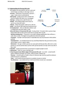 Preview of AQA ECONOMICS REVISION COMPLETE