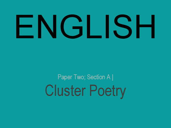 Preview of AQA English How To Compare Poetry