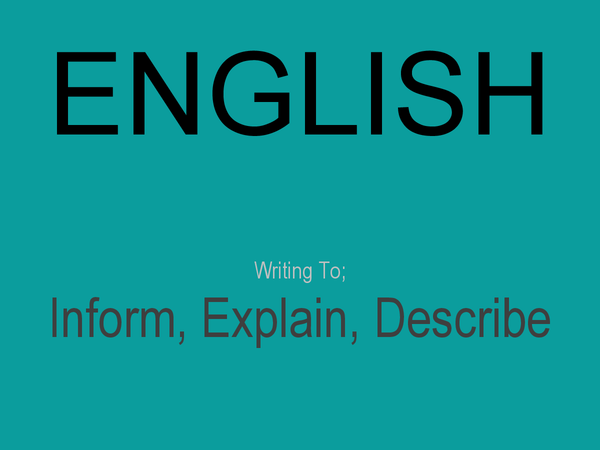 Preview of AQA English Writing to I.E.D.