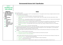Preview of AQA Environmental Science notes for Unit 1