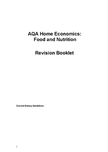 Preview of AQA Food and Nutrition