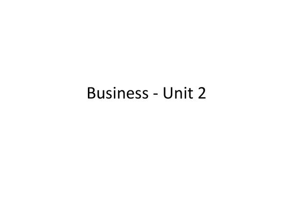 Preview of AQA GCSE Business Studies - Unit 2 Revision