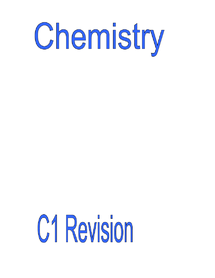 Preview of Chemistry 1 Revision