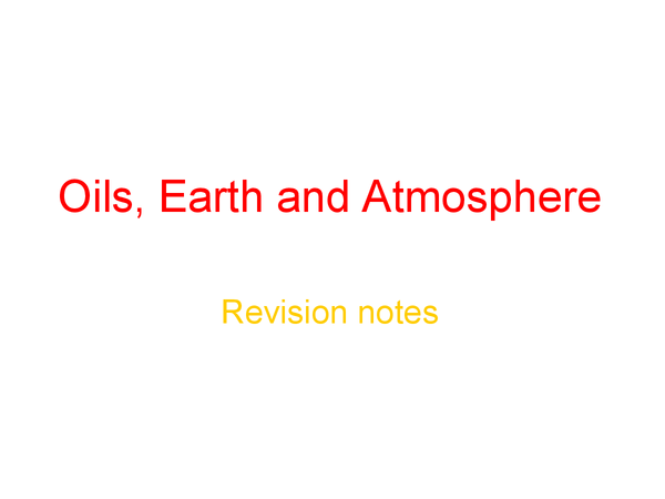 Preview of AQA GCSE Chemistry 1b revision