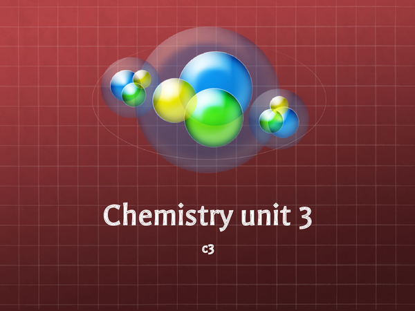 Preview of AQA GCSE Chemistry C3 Revision Powerpoint