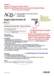 Preview of AQA GCSE english language paper 2 revision