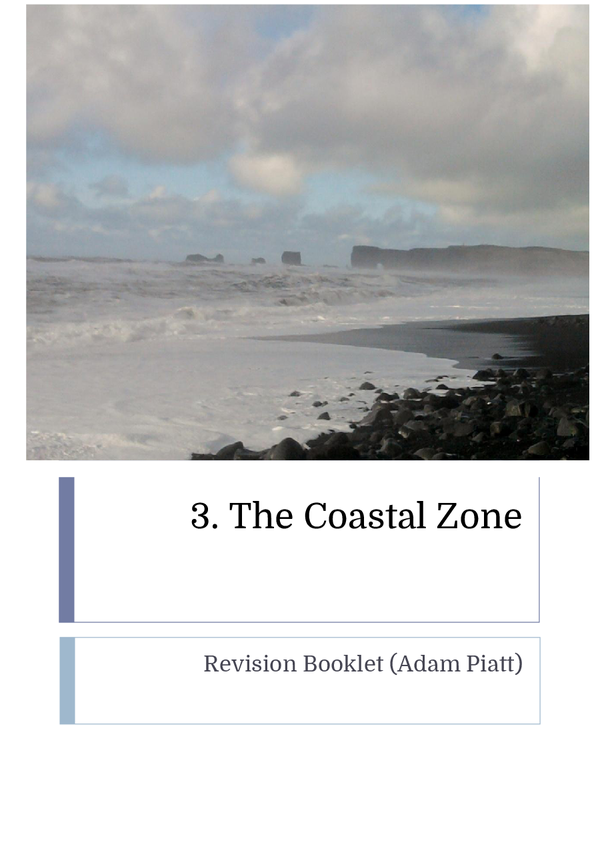 Preview of AQA GCSE Geography A - Coastal Zone