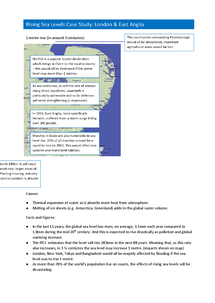 Preview of AQA GCSE Geography A Coastal Zone Case Studies