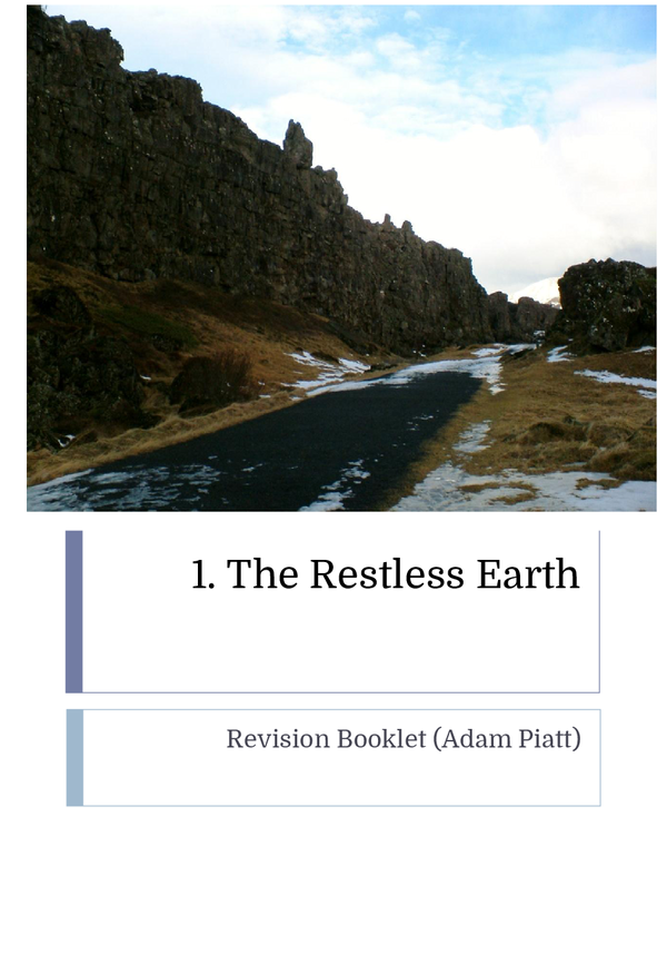 Preview of AQA GCSE Geography A - Restless Earth