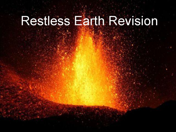 Preview of AQA GCSE Geography - Restless Earth Powerpoint