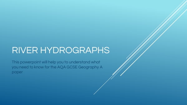 Preview of AQA GCSE Geography - River Hydrographs