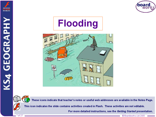 Preview of AQA GCSE Geography Unit 1- Flooding