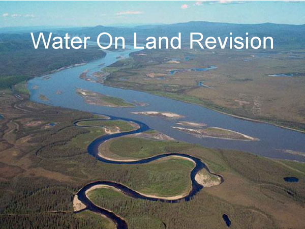 Preview of AQA GCSE Geography Water On Land Powerpoint