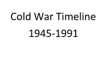 Preview of AQA GCSE History Unit 1 Cold War Timeline