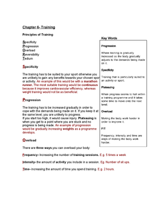 Preview of AQA GCSE PE Chapter 6- Training Notes