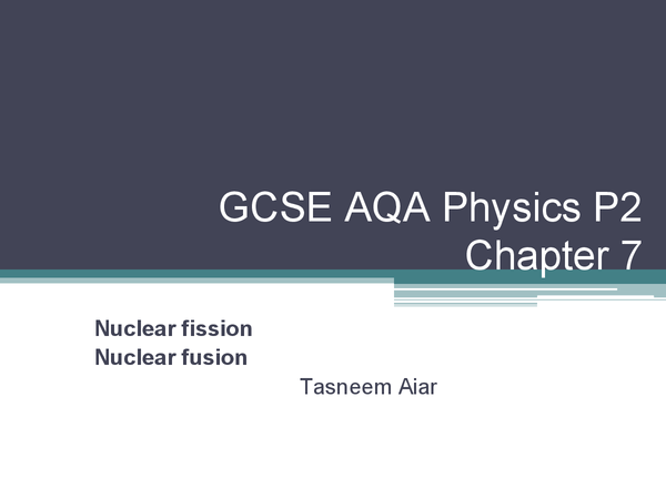Preview of AQA GCSE Physics P2 chapter 7