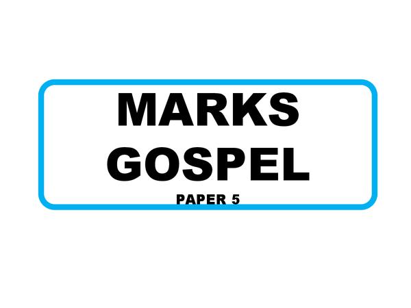 Preview of AQA GCSE Religious Studies Marks Gospel