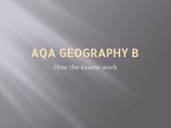 Preview of AQA Geography B - Tips