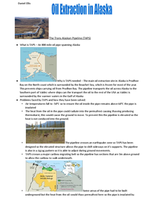 Preview of AQA Geography Cold Environments - Oil in Alaska