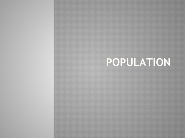 Preview of AQA Geography: Population