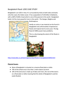 Preview of AQA Geography Rivers Case Study - Bangladesh